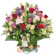 ★[당일배송]행복플러스♡ 장미 꽃바구니 꽃다발 생일 기념일 꽃선물_ _전국꽃배달[플라워몰]