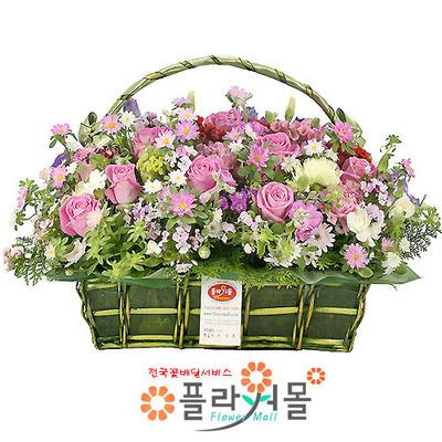 [당일배송]향기로가득찬 너♡ 장미 꽃바구니 꽃다발 생일 기념일 꽃선물_꽃배달당일배송_명품 전국꽃배달_[플라워몰]