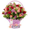 [당일배송]꿈속의 사랑 ♡ 장미 꽃바구니 꽃다발 생일 기념일 꽃선물_전국 당일꽃배달서비스_명품꽃배달[플라워몰]