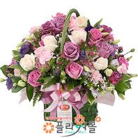 [당일배송]숨길수 없는 사랑 ♡ 핑크장미 꽃바구니 꽃다발 생일 기념일 꽃선물_전국 당일꽃배달서비스_명품꽃배달[플라워몰]