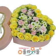 [당일배송]풀꽃향기♡ 하트장미꽃상자 생일 기념일 꽃선물_전국 당일꽃배달서비스_명품꽃배달[플라워몰]