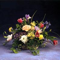 장미 혼합꽃바구니