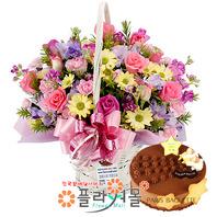 사랑의마음, 꽃바구니와 케익