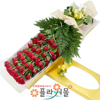 애중한 사랑 50송이장미 대형장미꽃다발 꽃박스 기념일 꽃선물_전국꽃배달_[플라워몰]
