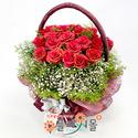 [당일배송]꿈의 궁전♡ 장미 안개 꽃바구니 꽃다발 생일 기념일 꽃선물_전국 당일꽃배달서비스_명품꽃배달[플라워몰]