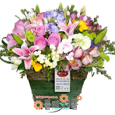 [당일배송]사랑하는 그대에게♡ 장미 꽃바구니 꽃다발 생일 기념일 꽃선물_꽃배달당일배송_명품 전국꽃배달_[플라워몰]