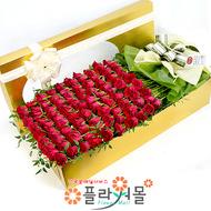 사랑고백 100송이 장미_ 장미꽃박스대형 기념일 꽃선물 플라워몰