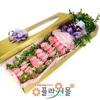 [당일배송]언제나 내 곁에서♡ 장미꽃다발 꽃상자 생일 기념일 꽃선물 꽃배달당일배송_ 전국꽃배달 전문[플라워몰]