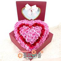 우리사랑 이대로 장미 100송이_ 장미백송이 꽃상자 발렌타인데이 기념일 플라워몰