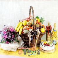 러브러브1호(특)(꽃,과일,와인(알콜1%미만),샴펜(무알콜),케익)
