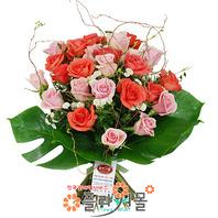 [당일배송]사랑비♡ 장미 혼합 꽃다발 생일 기념일 꽃선물_전국 당일꽃배달서비스_명품꽃배달[플라워몰]