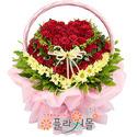 내 사랑담아 100송이 장미_ 하트장미꽃바구니 연인 꽃선물 전국꽃배달 플라워몰