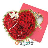 100만큼 사랑해 100송이 장미_ 하트장미꽃상자 빨간장미 프로포즈 꽃선물 플라워몰