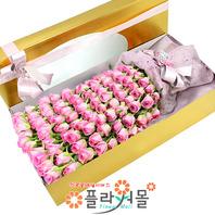 첫사랑을 바친다 100송이장미_ 대형분홍장미100송이꽃상자 기념일 꽃선물 플라워몰