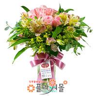 [당일배송]귀여운 내사랑(꽃병)♡ 장미 혼합 꽃다발 꽃병 생일 기념일 꽃선물_전국 당일꽃배달서비스_명품꽃배달[플라워몰]