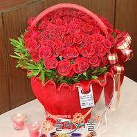 레드드림 50송이 대형꽃바구니 기념일 꽃선물_전국당일꽃배달[플라워몰]