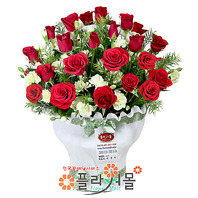 [당일배송]약속♡ 장미 꽃바구니 꽃다발 생일 기념일 꽃선물_전국 당일꽃배달서비스_명품꽃배달[플라워몰]