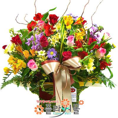 [당일배송]사랑이 꽃피는 계절♡ 장미 꽃바구니 꽃다발 생일 기념일 꽃선물_꽃배달당일배송_명품 전국꽃배달[플라워몰]