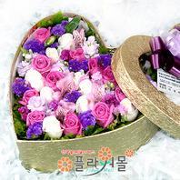 [당일배송]향기로 날 깨우는 사람♡ 하트장미꽃상자 생일 기념일 꽃선물_전국 당일꽃배달서비스_명품꽃배달[플라워몰]