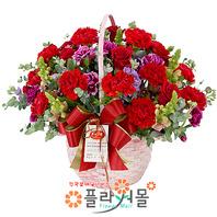 [카네이션]사랑합니다♡ 어버이날 카네이션꽃바구니 카네이션꽃배달 어버이날꽃바구니 카네이션 당일배송 꽃배달_ 전국꽃배달[플라워몰]