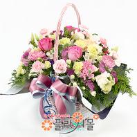 카네이션 꽃바구니★a-수줍은 고백~!!★19년전통 명품꽃배달서비스[플라워몰]